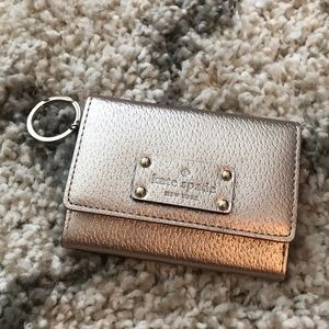 Kate Spade Rose Gold Mini Wallet Keychain